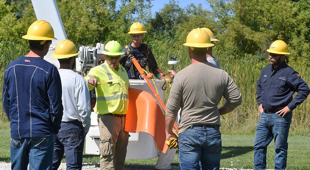 Line crews train for live wire work